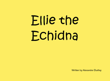 Ellie the Echidna