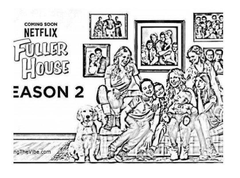 Fuller House Universe Coloring Book