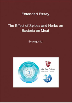 The Effect of Spices and Herbs on Bacteria on Meat