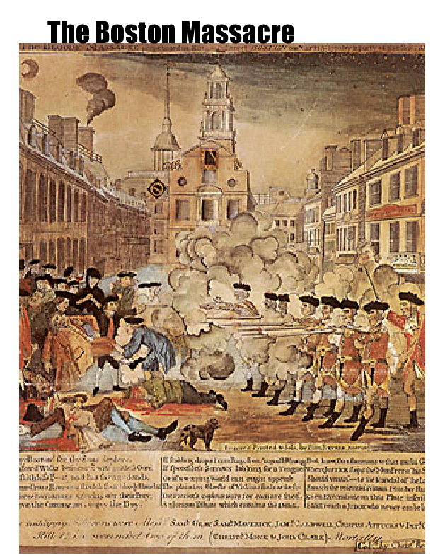 the boston massacre a major point in the american revolution and american history Definition of the boston massacre the meaning and definition of the boston massacre: the boston massacre was a pre-revolutionary incident that occurred on march 5, 1770 british soldiers, who were quartered in the city, fired into a rioting mob killing five american civilians in the boston massacre.