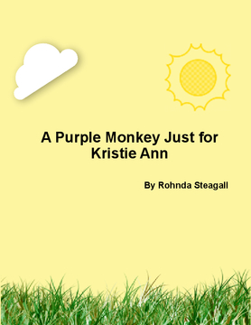 A purple monkey just for Kristie Ann