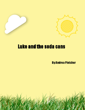 Luke and the soda cans