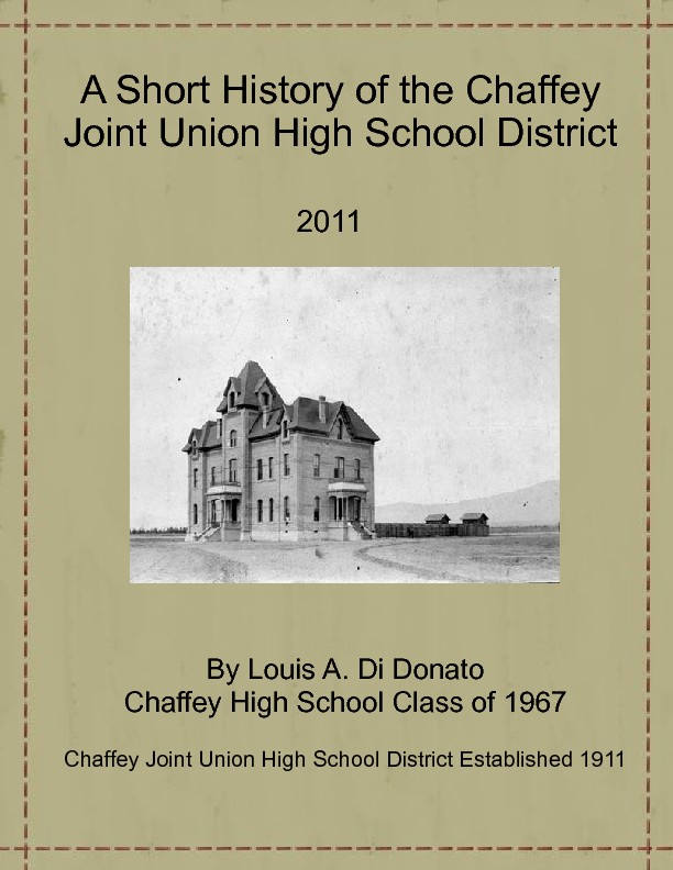 a brief history of high school Champs charter high school of the arts a brief history of political corruption jake fazio january 17, 2017 in politics, corruption undermines democracy and good .