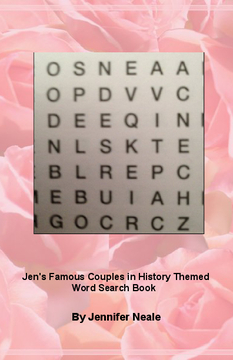 Jen's Famous Couples in History Themed Word Search Book