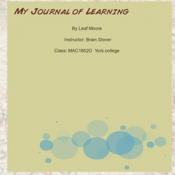 My Journal of learning