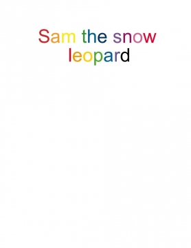 Sam the snow leopard