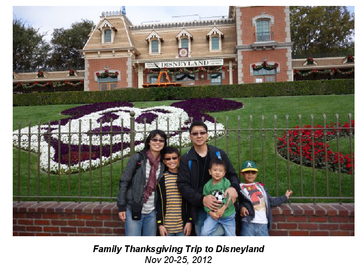 Family Thanksgiving Trip to Disneyland!