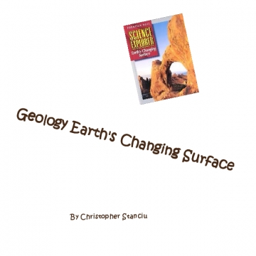 Geology Earth's Changing Surface