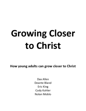 Growing Closer to Christ