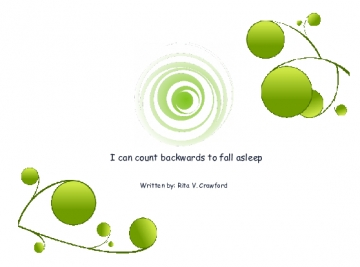 I can count  backwards to fall alseep