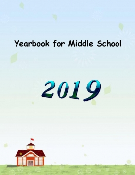 Yearbook Template 8.5x11 - Middle School