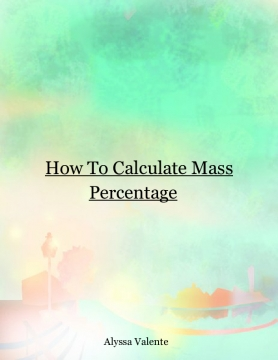 How to Calculate a Mass Percentage