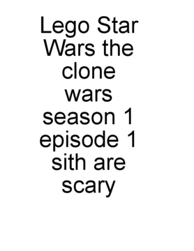 Lego Star Wars the clone wars season 1 episode 1