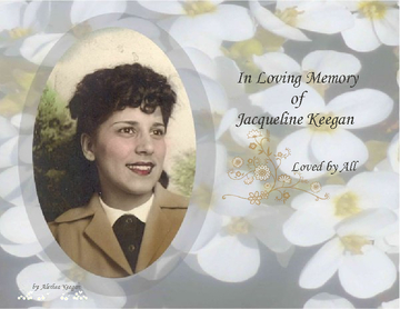 In Loving Memory of Jacqueline Keegan