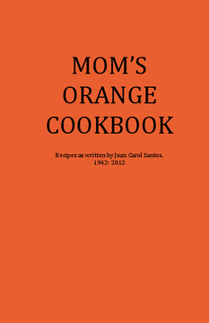 Mom's Orange Cookbook