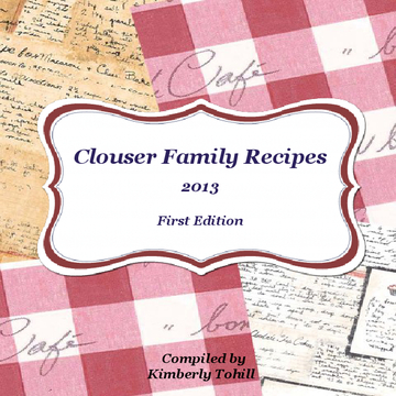 Clouser Family Recipes