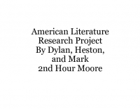 American Literature Research Project