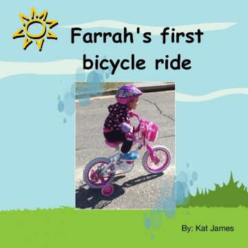 Farrah's  first bicycle ride