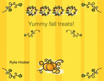 Yummy fall treats!