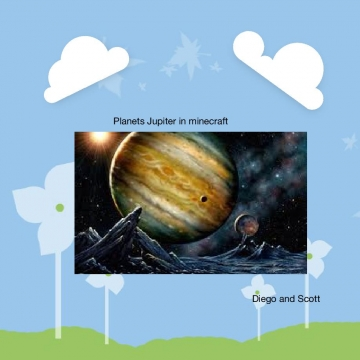 Planets Juplter  in minecraft