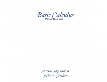 Basic Calculus