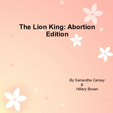 The Lion King: Abortion Edition