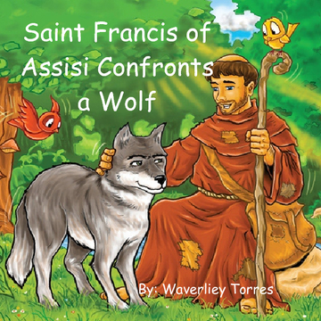 Saint Francis of Assisi Confronts a Wolf