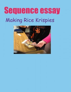 Sequence essay! ☺️ making rice Kripsie treat