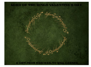 Lord of the Rings Valentine's Day