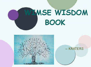WIMSE Words of Wisdom...Book
