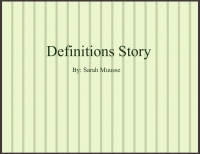 Definitions Story