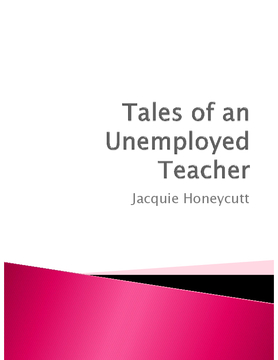 Tales of an Unemployed Teacher