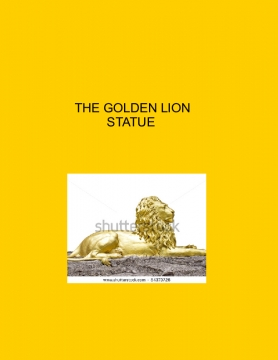 The Golden Lion Statue
