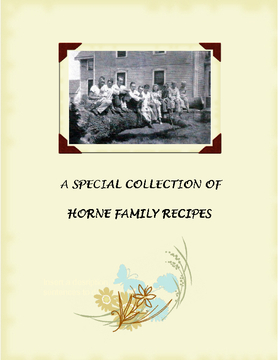 Horne Family Cookbook