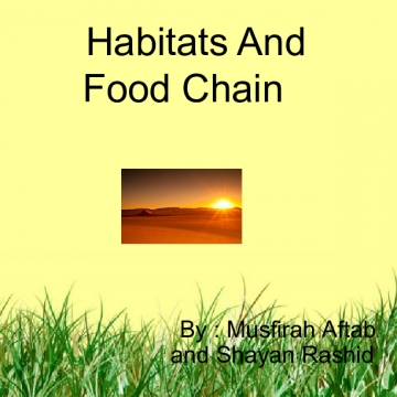 Habitats and Food Chain