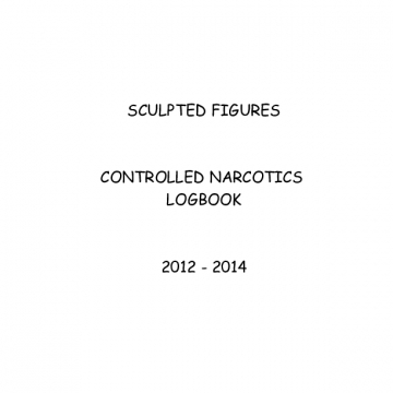 CONTROLLED NARCOTICS LOGBOOK