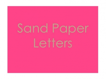 Montessori Sandpaper Letters - The Book