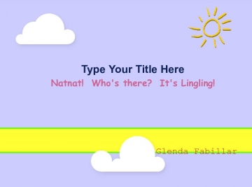 Natnat!  Who's there?  It's Lingling!