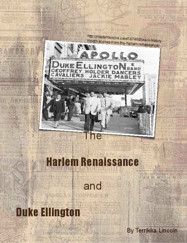 The harlem renaissance and duke ellington book 271216 for Harlem renaissance coloring pages