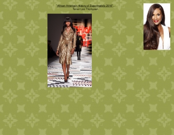 African American History of Supermodels 2016