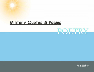 Military Quotes & Poems