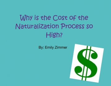 Why is the Cost of the Naturalization Process So Much?