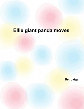 Ellie the giant panda moves