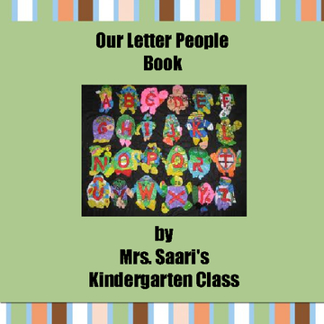 Our Letter People Book