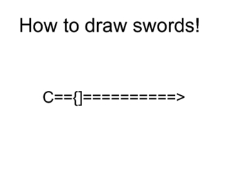 How to draw swords!