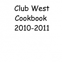 Club West Cookbook 2010-2011