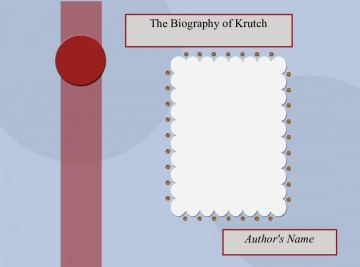 The Biography Of Krutch