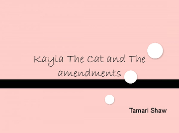kayla the Cat and the amendments