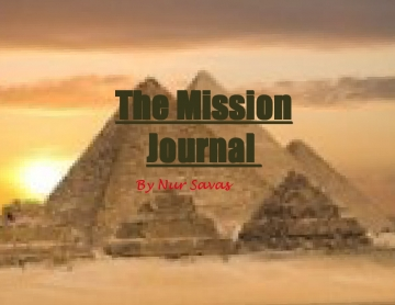 My mission Journal