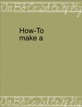 Howto creat a bookemon
